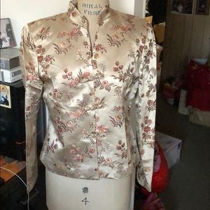 Kate Hill petite Chinese flower brocade jacket